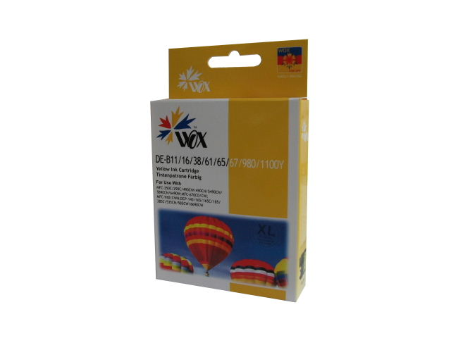 Compatible Brother LC38Y (LC67Y) High Capacity ink cartridge